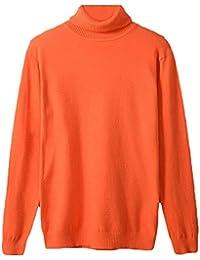 Unko Mens Basic Long Sleeve Cotton Knit Turtleneck Sweater