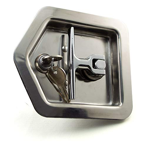 RCPW Stainless Steel Folding T-Handle Latch with Single Point Latch, Gasket and Blind Studs