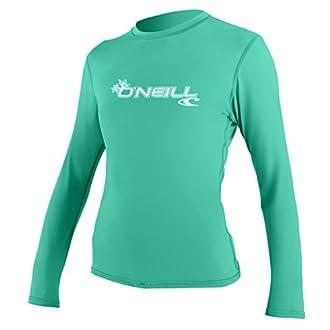 O'Neill Women's Basic Skins Upf 50+ Long Sleeve Sun Shirt, Seaglass, Medium