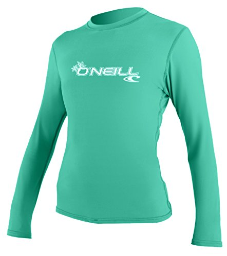 O'Neill Women's Basic Skins Upf 50+ Long Sleeve Sun Shirt, Seaglass, X-Large
