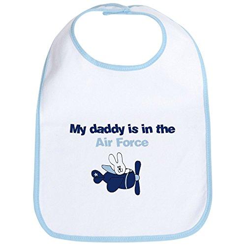 CafePress - Airplane Bunny - My Dad Is In The Airforce Bib - Cute Cloth Baby Bib, Toddler Bib ()