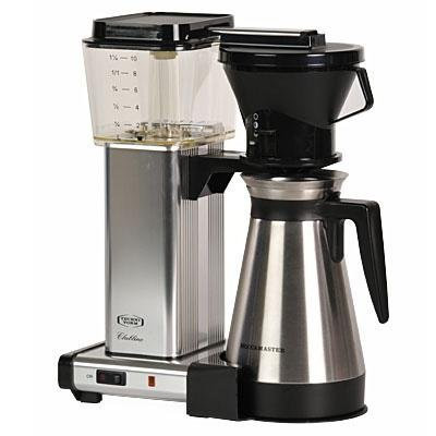 Moccamaster KBT741 Manual-Adjust Drip-Stop 40oz Coffee Maker - Polished Silver, Thermal Carafe