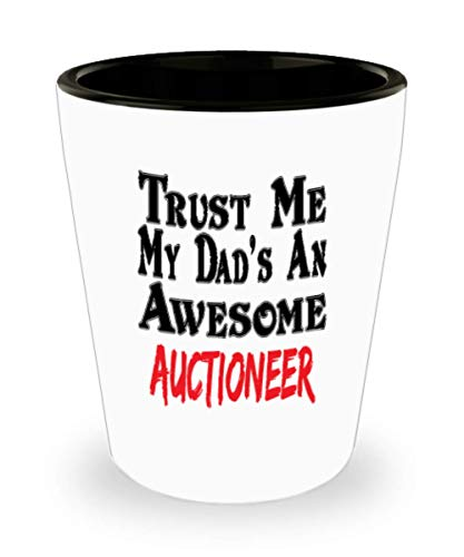 White Ceramic Shot Glass Funny Dad Auctioneer Coffee Mug - Unique Cool Cute Father's Day Gifts Trust Me Great Novelty Gift,al3968]()
