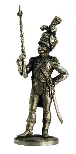 Military-historical miniatures Drum-Major of Dutch Grenadiers 1810-11 Tin Metal 54mm Action Figures Toy Soldiers Size 1/32 Scale for Home Décor Accents Collectible Figurines ITEM #NAP2