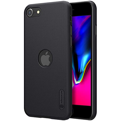 Nillkin Case for Apple iPhone SE2 SE 2 2020/8 (4.7″ Inch) Super Frosted Hard Back Cover PC with Logo Cut Black Color