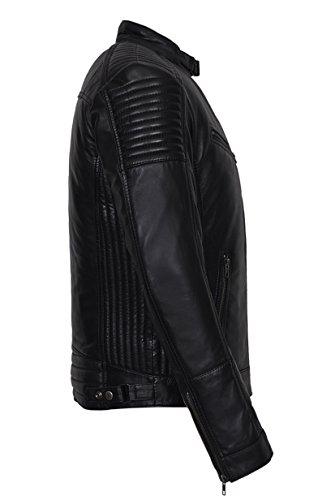 Herren Oblivion 1829 Schwarz Modedesignerin Motorradfahrer Stil weichen Paded Lederjacke