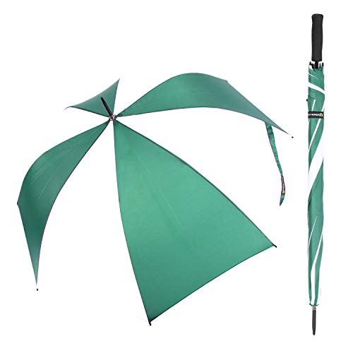 Nylon Umbrella Windproof (NEW SUSINO 60 Auto Open Golf Umbrella Green White Oversize Extra Large Lightweight Stick Umbrellas Waterproof Windproof)