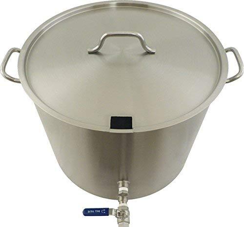 Modified Brewing Kettle - Heavy Duty W/Notched Lid (60 Quart/15 Gallon) [並行輸入品]   B07PPQ2NHD
