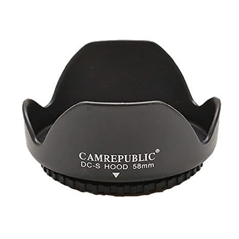Camrepublic® 58mm REVERSIBLE Reemplazo Parasol del Objetivo para ...