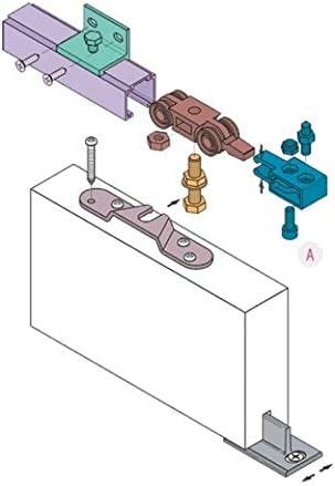 Koblenz - Kit de Sistema Deslizante para Puertas con riel de 230 cm, 40 kg