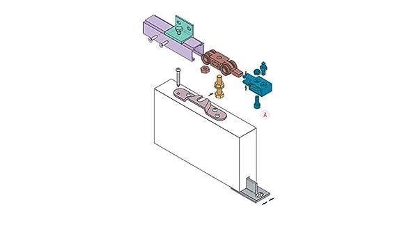 Koblenz - Kit de Sistema Deslizante para Puertas con riel, 190 cm, 40 kg, Carga máxima: Amazon.es: Hogar