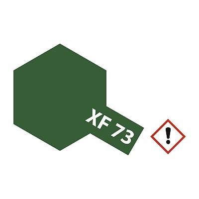 Tamiya Flat Acrylic Paint Mini 10ml Dark Green (JGSDF) XF73: Toys & Games