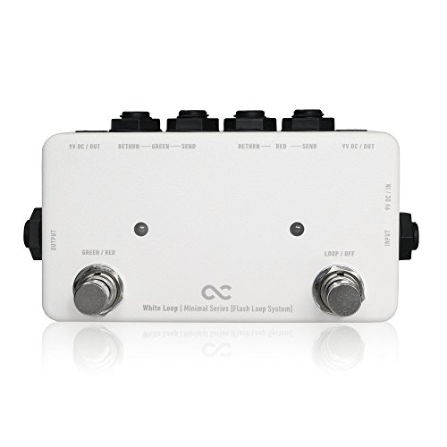 ONE CONTROL White Loop Minimal 2 Loop Flash Looper Pedal by One Control