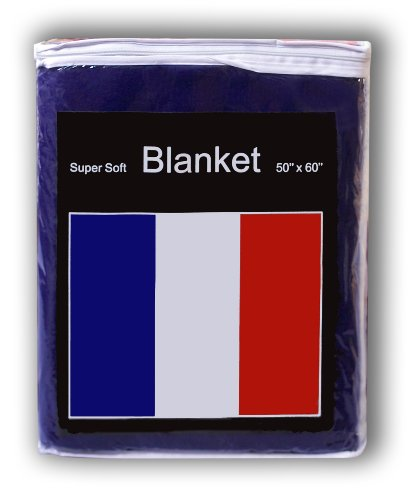 French Flag Fleece Blanket 5 ft x 4.2 ft. Throw Cover Flag o