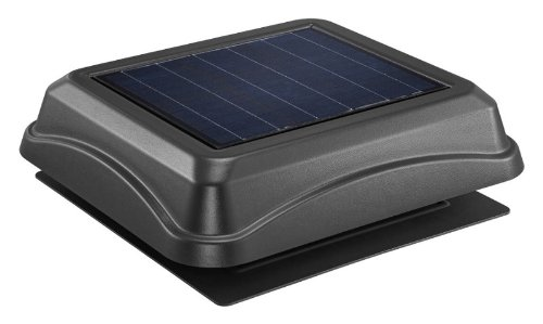 Broan 345SOBK Surface Mount Solar Powered Attic Ventilator, 28-Watt, Black