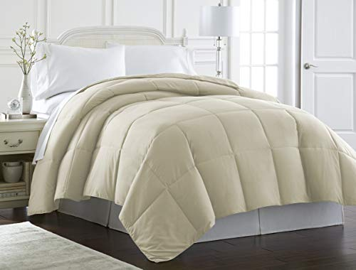 Spirit Linen Hotel 5th Ave Milano Collection Luxurious Premier Quality Down Alternative Comforter, King, Ivory