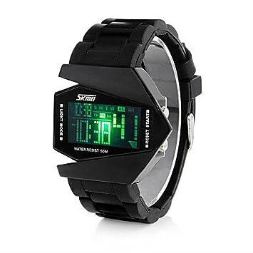 Lemumu 0817 marca de moda casual hombres Relojes de Pulsera Digital LED Reloj impermeable al aire libre estudiante multifuncional Dama relojes deportivos, ...