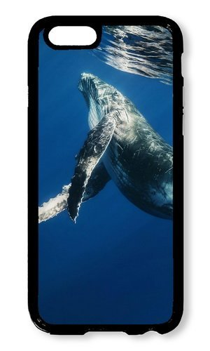 Cunghe Art Custom Designed Black PC Hard Phone Cover Case For iPhone 6 4.7 Inch With Whale Swimming Underwater Phone Case