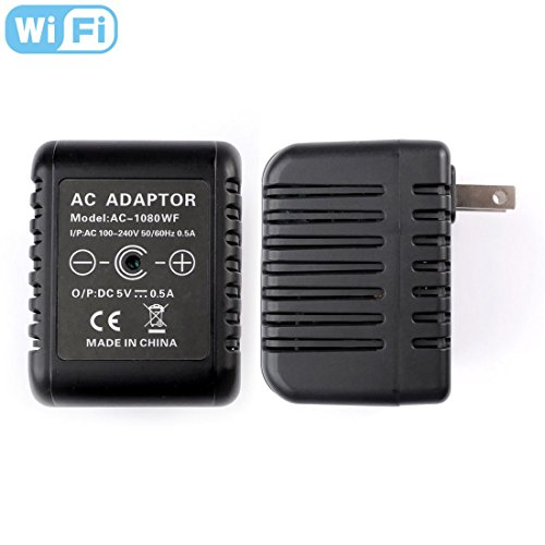 RecorderGear AC50W HD 1080P WiFi IP Hidden Camera AC Adapter / Motion Activated / Live Stream iOS-Android App / Email Alerts / Covert Security Spy Nanny Cam by RecorderGear