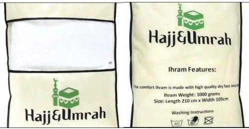 Serviette Ihram AL Othalman 100/% coton Adulte 2/pi/èces Chiffon indiquant Oumra Ehram 1.6/kg