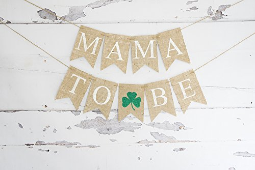 - St. Patrick's Day Decoration, Glitter Clover Banner, St. Patrick's Day Baby Shower Garland, Mama to Be, Shamrock B915