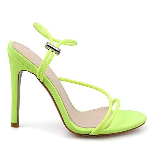 Donne Mules Scarpe Sandali Lydee Cinturino Fluorescent SUZ7w 6e4c6812e75