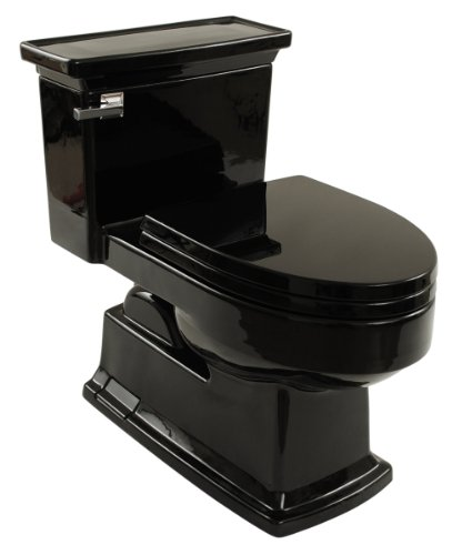 Lloyd One-Piece Toilet 1.28 GPF Ebony with SoftClose seat
