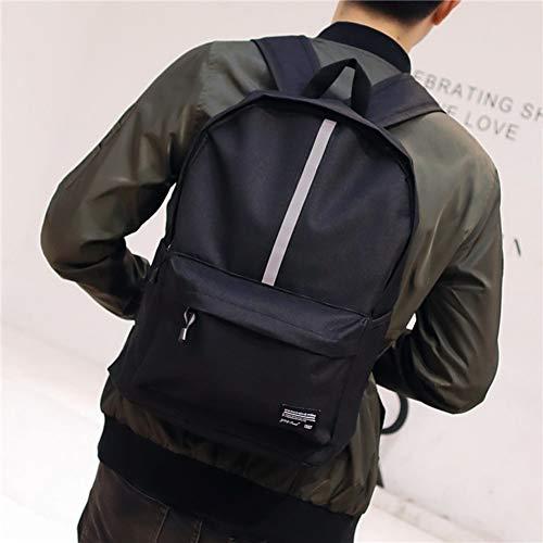 MEFennkwkw Canvas Large Capacity Waterproof Men City Leisure Backpack,Campus School Bag Daily Youth Rucksack Fits 15 Inch Laptop Bookbag-Black G 32x13x43cm(13x5x17inch) ()
