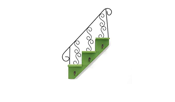 Vosarea Ganchos en Forma de Escalera Ganchos para Colgar Organizador de Madera para decoración del hogar (Verde): Amazon.es: Hogar