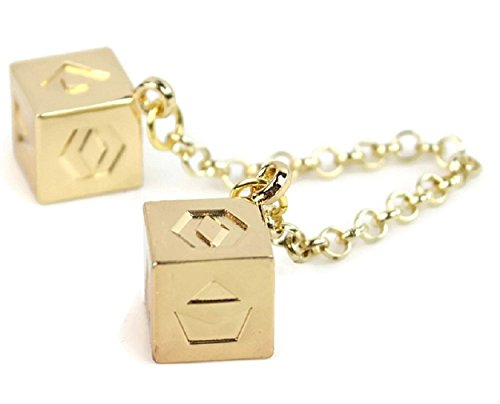 Han Solo Dice Lucky Charms Jewelry for Hansolo Cosplay Costumes replica Accessories (Chain Cube) Dice Jewelry