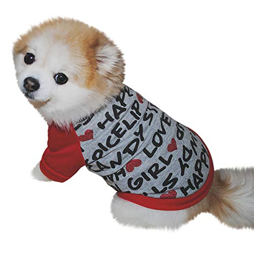 Love Alphabet Dog Clothes for Small Dogs Pet