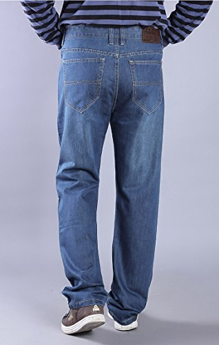 e21ea6167dd Allonly Casual Relax Fit Straight Leg Stretch Jeans For Men Plus Size Big  and Tall at Amazon Men s Clothing store