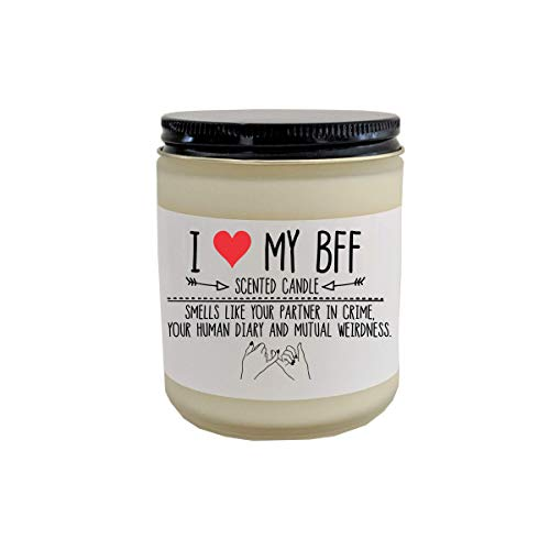 (BFF Gift Best Friend Gift Scented Candle Gift for Bestie I Love My BFF Birthday Gift for Friend)