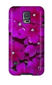 Cute High Quality Galaxy S5 16370 Deep Purple Flowers Case