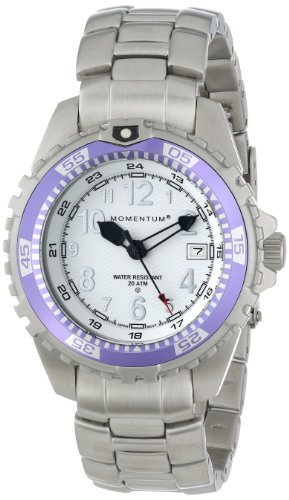 Momentum Women's 1M-DV11WP0 M1 Twist Purple Bezel Steel Bracelet Watch