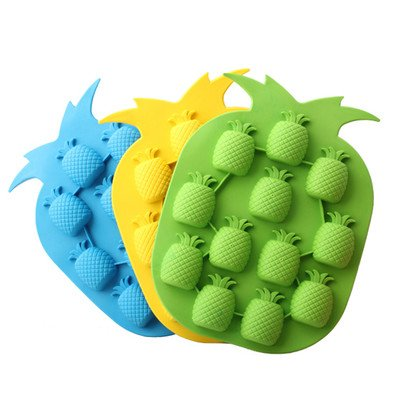 (Bar Party Drink Ice Tray Pineapple Shape Ice Cube Freeze Mold Ice Maker Mould)