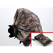 "Digital Camouflage Camera Rain Cover + Storage Pouch for cameras with lens combinations up to 13"""" long. For use with Rangefinder SLR Cameras including: Leica M1 M2 M3 M4-2 M5 M6 TTL M7 MP M8 ---&--- Contax G1 G2"