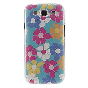 PEACH-Multi-Color Flowers Pattern Plastic Protective Hard Back Case Covers for samsung Galaxy S3 I9300