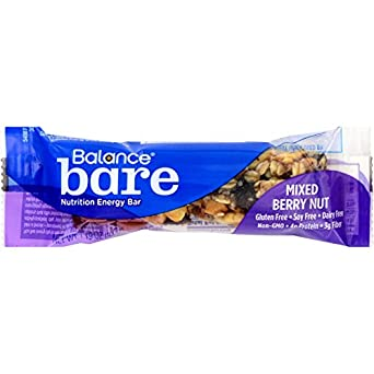 Balance Bar - Bare - Mixed Berry Nut - Gluten Free - 1.19 oz - Case of 6