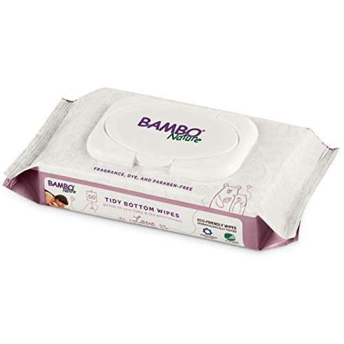 Bambo Nature Tidy Bottoms Eco-Friendly Baby Wipes, 50 Count
