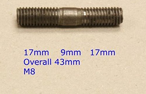 8x Metric Exhaust Manifold Studs - M8 x 43mm - For Alfa/Chrysler Metric Manifold