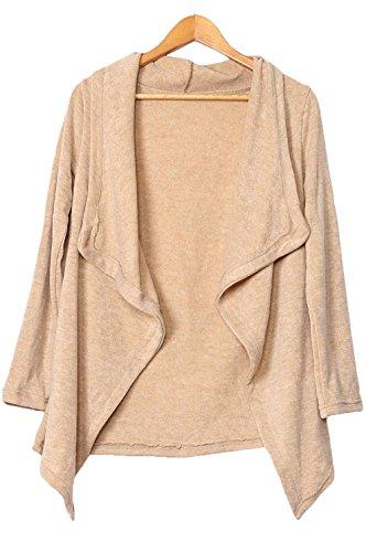 YeeATZ Apricot Asymmetric Wrapped Women Sweater(Size,L)