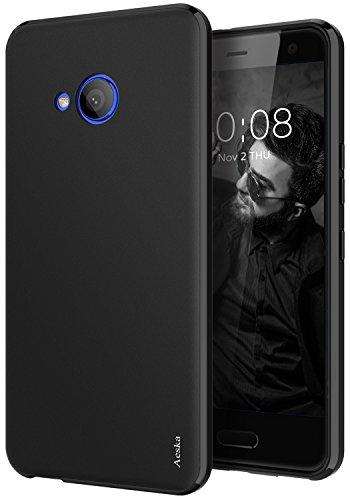 HTC U11 Life Case, Aeska Ultra [Slim Thin] [Matte] Flexible TPU Gel Rubber Soft Skin Silicone Protective Case Cover for HTC U11 Life (Black)