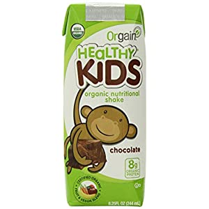 Orgain Healthy Kids Organic Nutritional Shakes, 3 Flavors, 11 Ounce, 12 Count