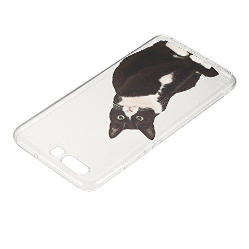 Ecoway TPU Funda Case for Huawei P10 , Ultra Thin Carcasa Anti Slip Soft Bumper Scratch Resistant Back Cover Crystal Clear Flexible Silicone Case Parachoques Carcasa Funda Bumper - Donuts Huevos de expresión