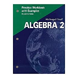 Mcdougal littell algebra 2 workbook answers with work