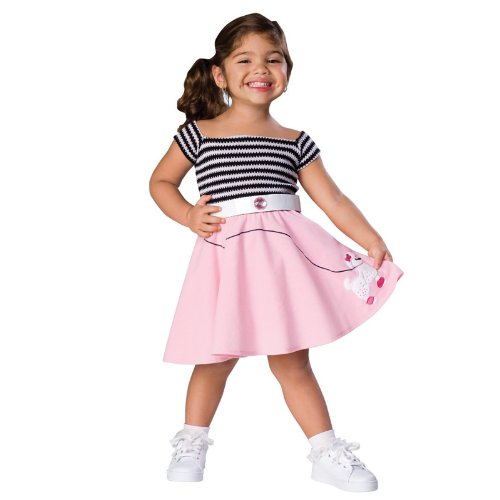 50s Girl Toddler Costume Size 2T-4T