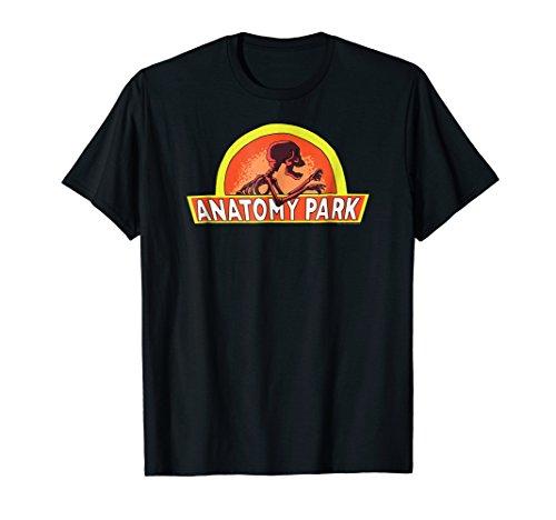 Mens Rick & Morty Anatomy Park T-Shirt Large Black