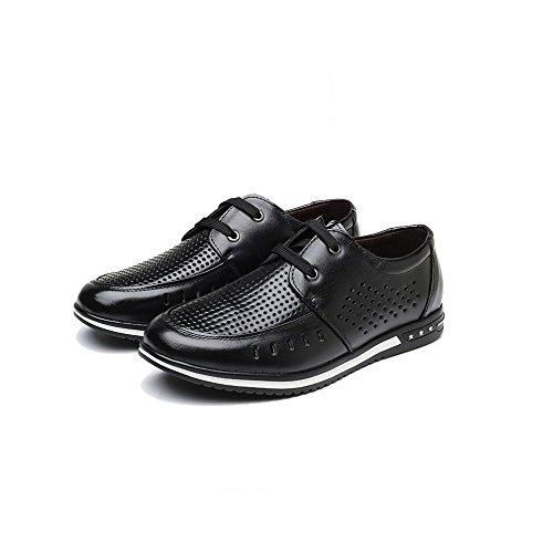 Zapatos Los Respirables Agujero Cuero Los Huecas Hombres Hombres Zapatos Zapatos De Verano De Black del Ocasionales De Frescos De Nuevos Sandalias Oxford ZqxwgS5U5