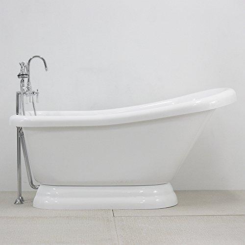 Acrylic Slipper Clawfoot Bathtub - 3